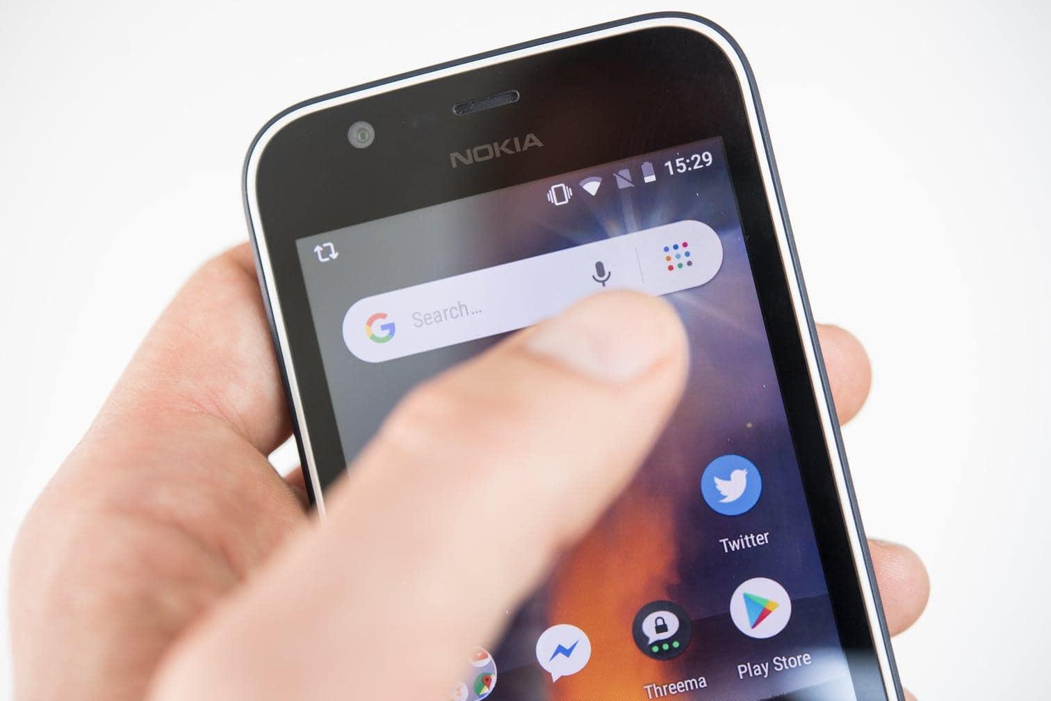 <p>Android Go auf dem neuen Nokia 1 verrichtet unauffällig seinen Dienst