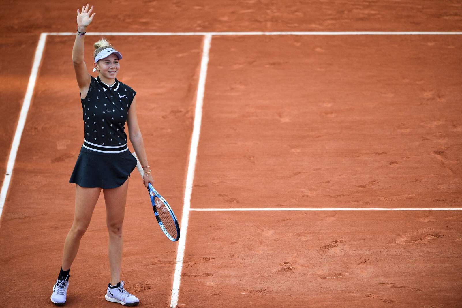 Bereits im Alter von drei Jahren begann sie mit dem Tennis-Sport. Foto: Martin Bureau / AFP