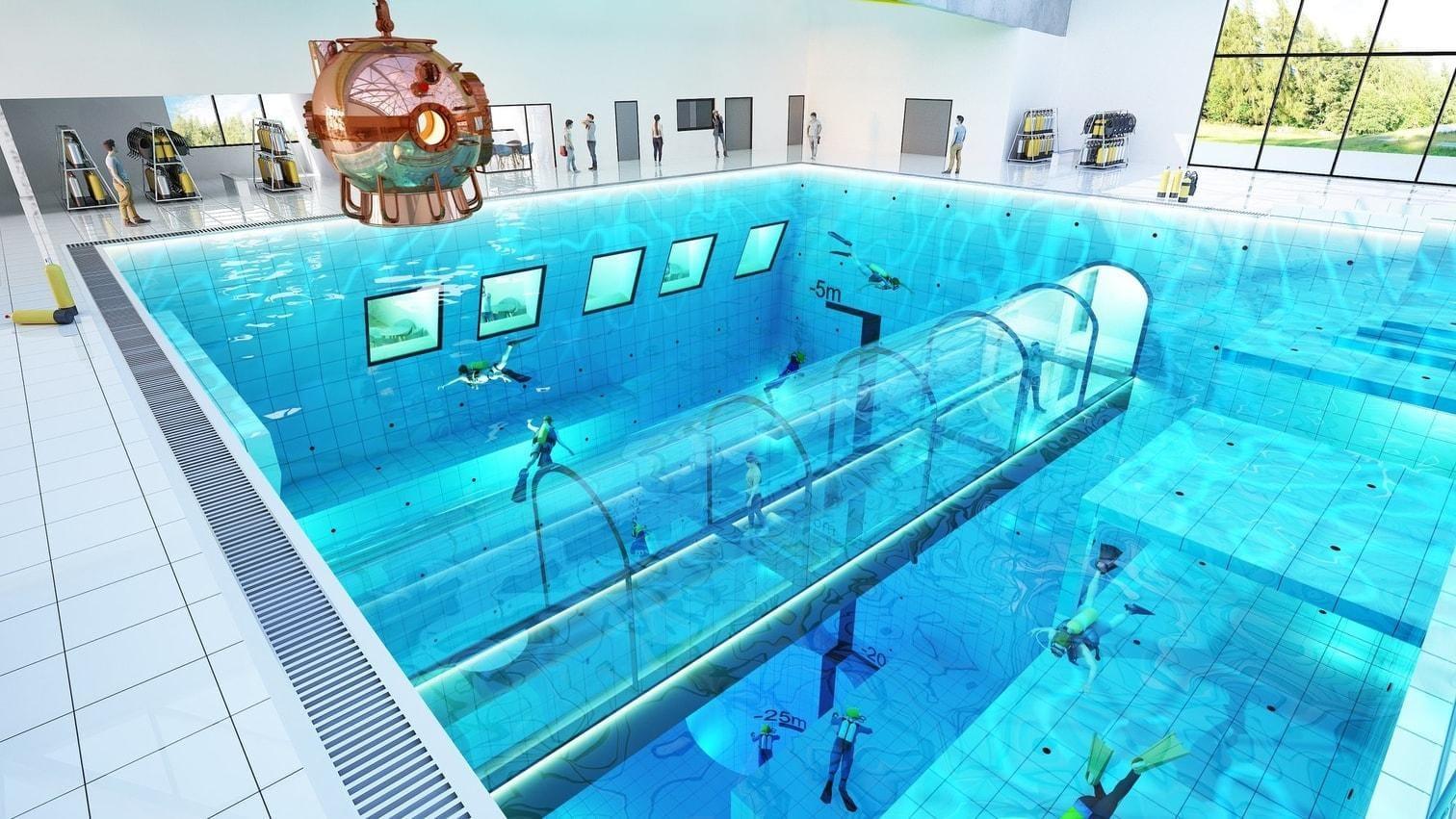 "<p>""Deepspot"" heißt der 45 Meter tiefe Pool.</p> Foto: Deepspot"